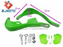 HG-03H-GN Green Aluminum Bar 22mm/28mm Dirt Bike Handguard Kit with Green Handguards and Mounting Hardware