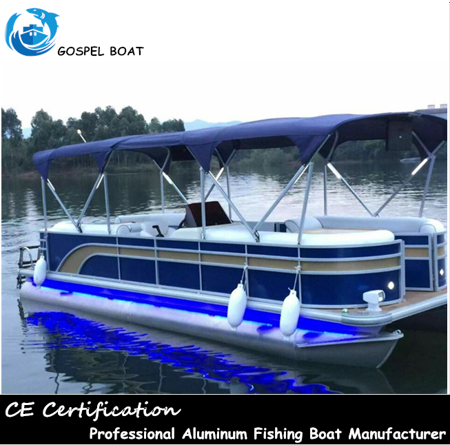 Floating Aluminum Double Hull Pontoon Party Fishing Boats