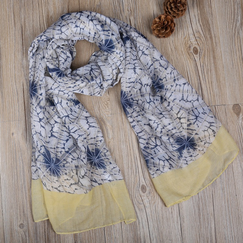 2017 new fashion printed spider web headwear pareos voile lady scarf