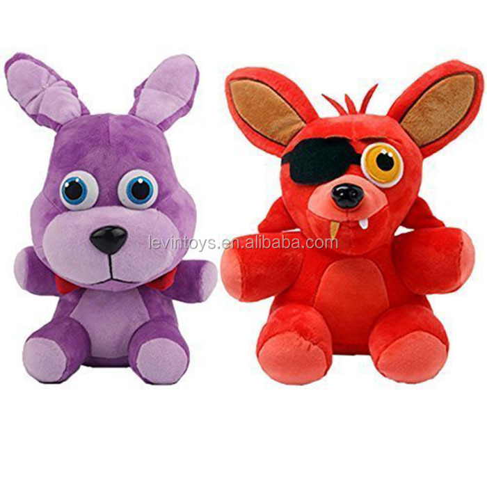 Freddy's Fnaf Foxy and Bonnie 25cm Stuffed Plush Toys Christmas Gift