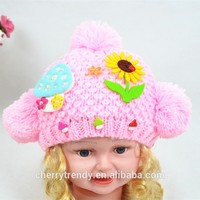Fashion Baby Lovely Flowers Winter Hat