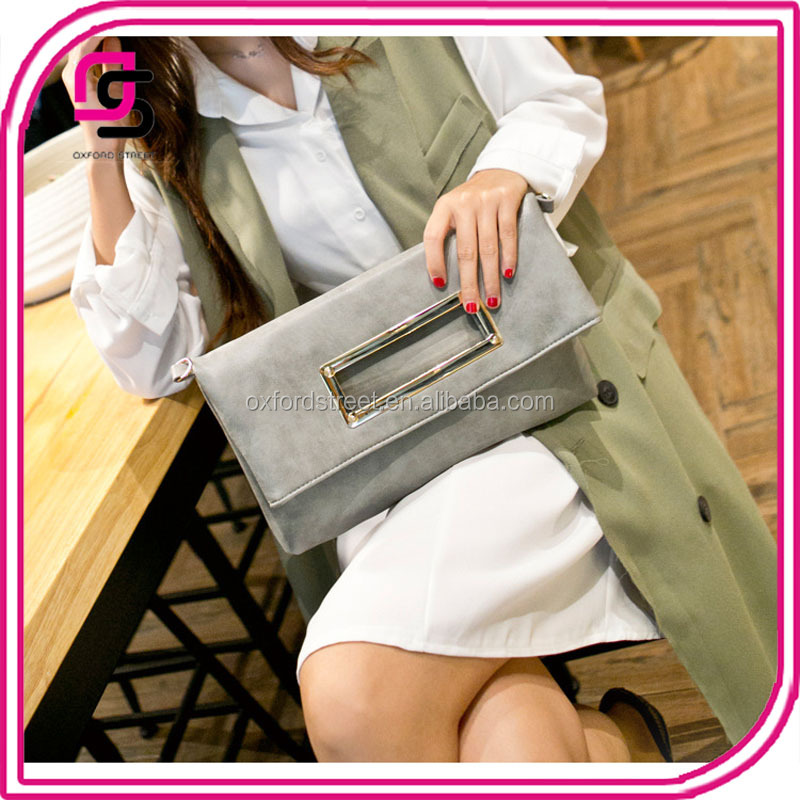oversized clear designers nubuck leather bags handbags with metal handle envelope clutch bag women