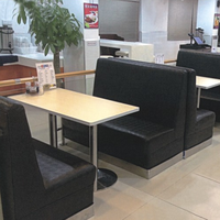 Double Sides Fast Food Leather Banquette & Diner Booth