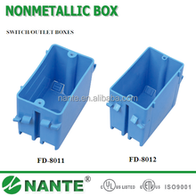 American Type Wall Socket Nonmetallic Box with UL Approval, Switch/Outlet Box, Meets NEMA OS-2, Ceiling