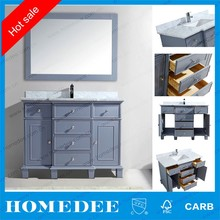 Homedee high quality hand carved antique solid wood bathroom vanity