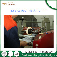 China factory adhesive tape one side+masking film +dispenser hdpe masking film for auto/boat/plane service plastic repair servi