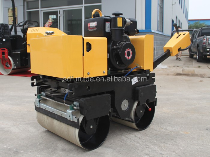 Hand Road Compactor, 800kg Double Drum Vibration Roller (FYL-800C)