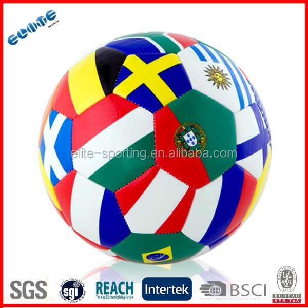 Colorful promotional light soccer ball 4 pics