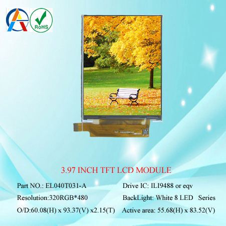 OEM/ODM high quality 4 inch lcd module 480x800 ips full view