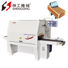 China Shengong Woodworking Sawmill Square Timber Sawing Wood Multi Blade Saw Machine