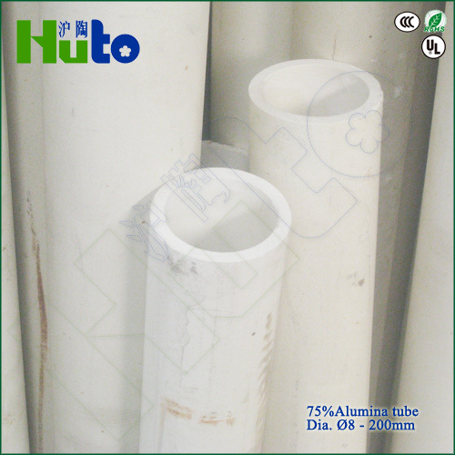 [HUTO CERATRIC] China manufacturer 75% Al2O3 Alumina ceramic kiln roller