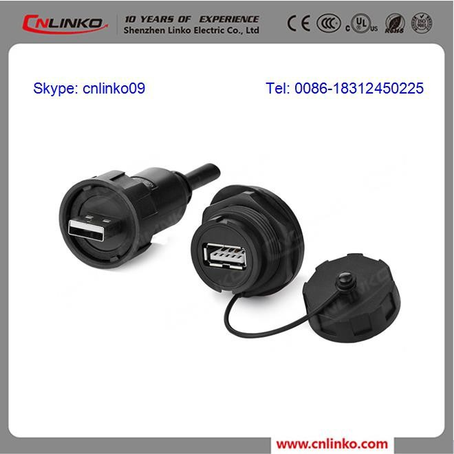 CNLINKO Provided High Quality USB Connection Connector, Connecet USB Cable Customized USB 2.0 Male to Female Adapter Connector