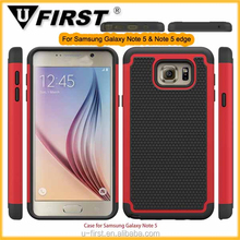 Heavy duty Shockproof football textured hard case for Samsung Galaxy Note 5, Hybrid 2 in 1 cover for samsung note 5 edge Case