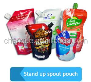 high barrier Jar shape ziplock stand up retort bag for sauce packaging