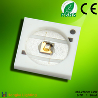 Germicidal UVC LED 265nm smd led with 0.2W 5V 20mA
