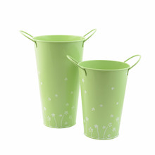 Spring Light Green Chic Mini Metal Pitcher Vase & Pen Container for Home Decoration