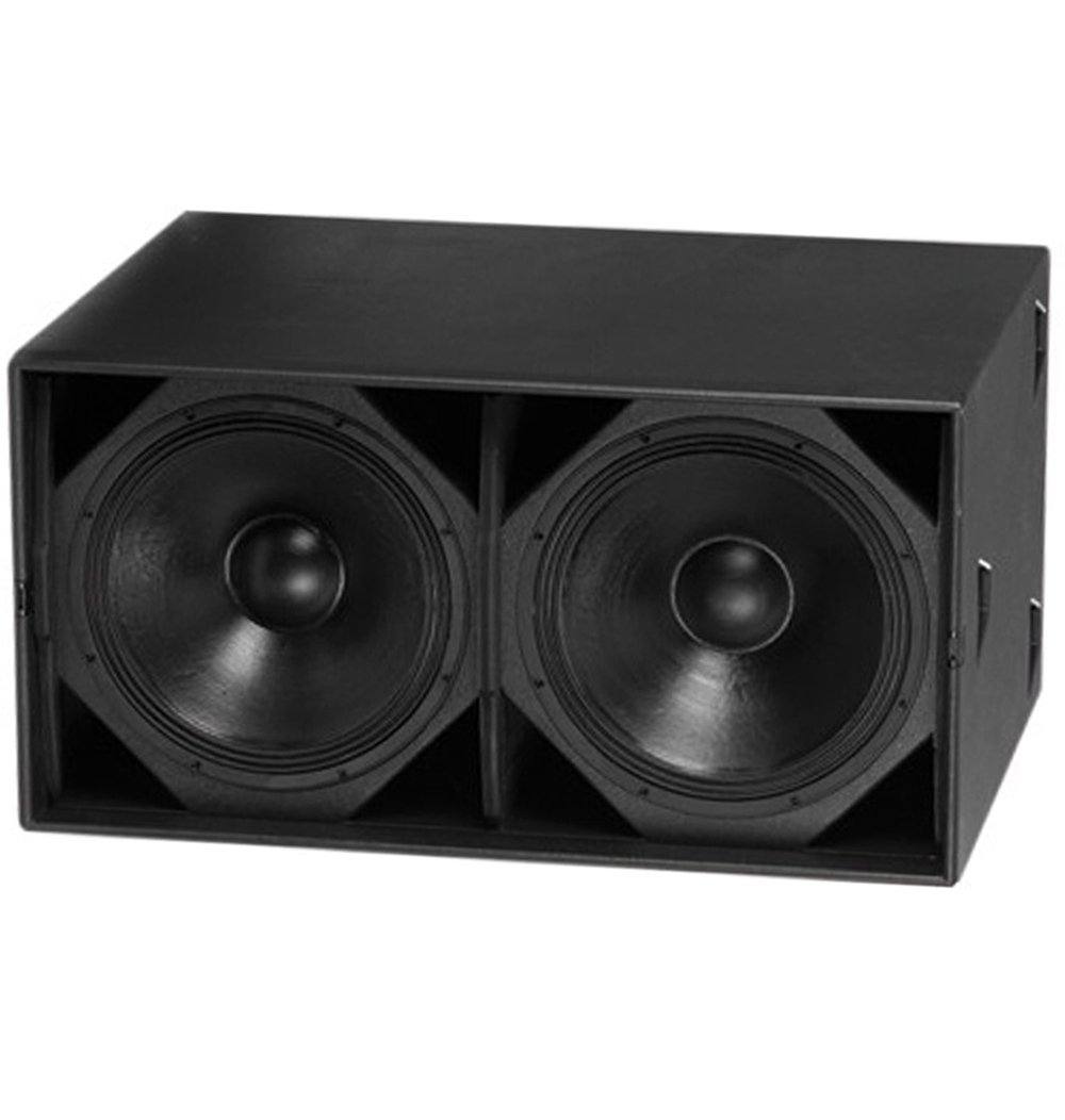 professional 18 inch outdoor dual subwoofer audio box speaker