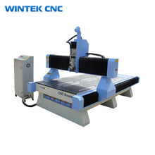 Wintek Jinan 3d cnc wood carving router prices,4 axis cnc router with cheap price for wood door making machine