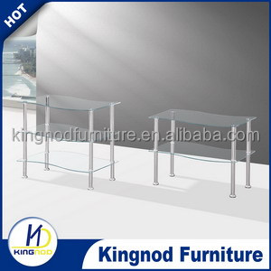 cheap glass stainless steel modern coffee table lift top coffee table made in china