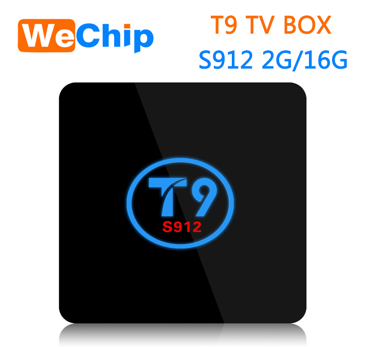 T9 WeChip TV BOX amlogic s912 octa core 2g 16g bluetooth 4.0 dualband wifi 1000mb ethernet
