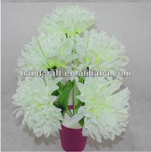 cheap artificial funeral daisy flowers with pot