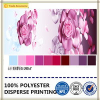 3D beautiful folwer printing polyester brushed taxtile fabric for bed sheets