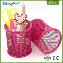 China supplier wholesale factory metal mesh desktop display pen holder stand