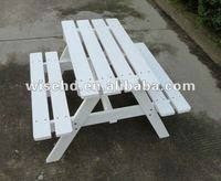 W-T-319 outdoor wooden table park bench