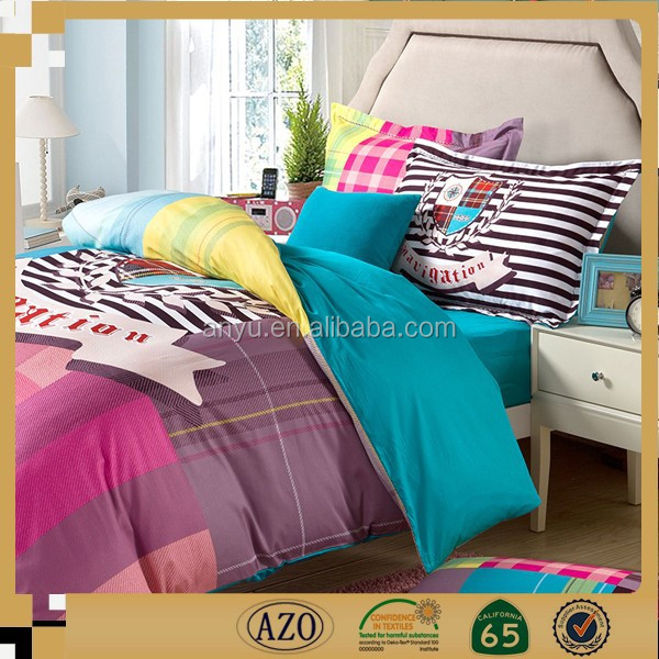 Home textile 100% Bamboo fiber microfiber for kids bed sheet set textiles fabric