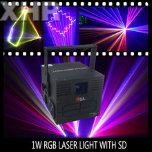 1w rgb laser with sd card used stage lighting for sale