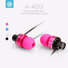 Metal mp3 player oem stereo with mic mobile earphone with good sound