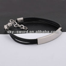 Cheap Fashion Chain Silicone Bracelet Stainless Steel