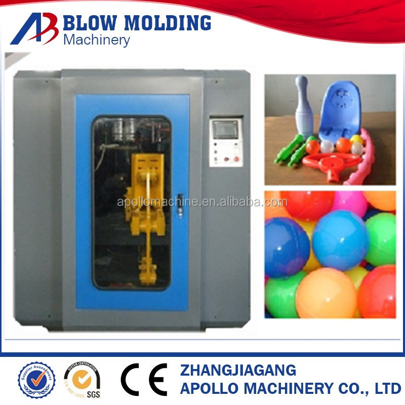 famous 1L automatic double station extrusion blow molding machine with deflashing