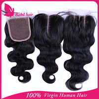 Cheap Virgin remy brazilian human hair lace front top closure piece hair pieces