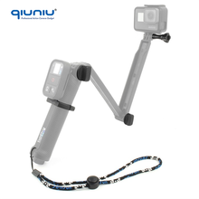 QIUNIU Wholesale For GoPro Hero 4 3+WiFi Remote Control Mount + Replacement Screws + Safety Wrist Strap for GoPro 3 Way monopod