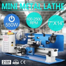 "7""x14"" 550W 0618-3B Mini Metal Lathe Turning Machine 220V Metal Work Mirco Lathe DIY Metal"