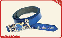 2014fashion crystal Jeweled flower buckles design leather belts for woman