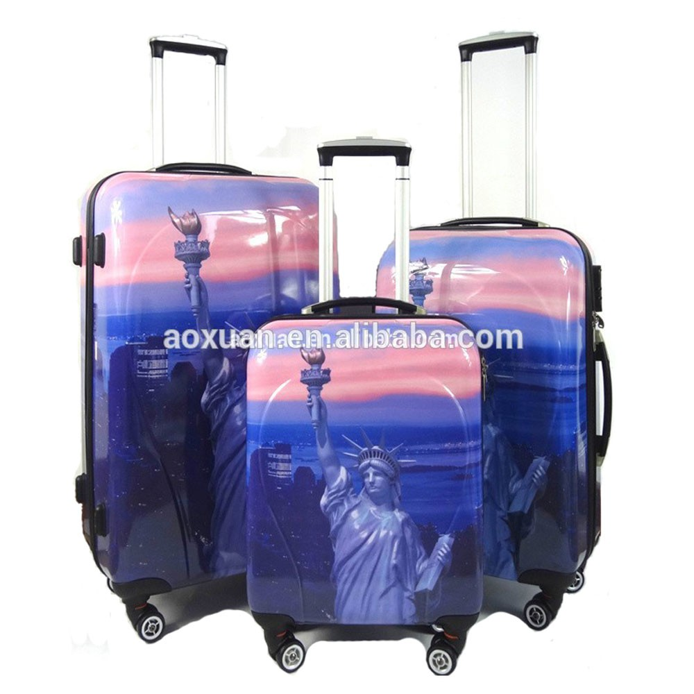 3 Piece Trolley Luggage Set With Hinomoto Luggage Wheels