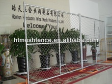 galvanzied chain link fence panels 6'x12'/temporary chain link fencing direct factory