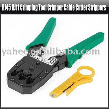 RJ45 RJ11 Crimping Tool Crimper Cable Cutter Strippers,YHA-PC134
