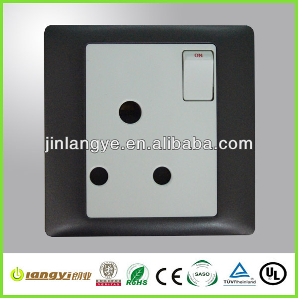 15A single outlet socket with switch (LYS1-1-15(HB))