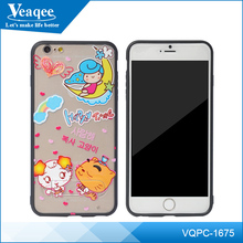 Veaqee accessories supplier Colorful TPU+PC Paste Skin Strip Protective Case for iPhone smartphone Back Cover