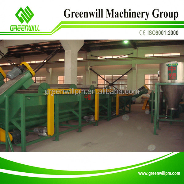 Best design of Municipal waste washing recycling line