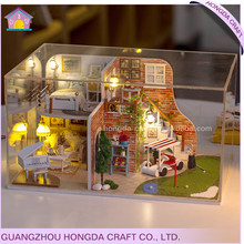 Good quality with light and simulation furniture adult wooden doll house