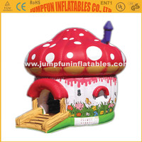 Beautiful inflatable mushroom bouncer/Funny bounce house for chlid/Jump castle inflatables rent