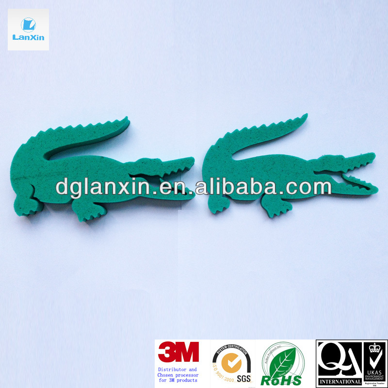 Die cut foam crocodile shape for children play toy
