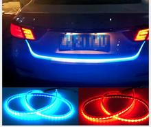 47 Inches Flexible LED Tail Light Bar Turn Signal Brake Red/Ice Blue For Car Trunk Lamp/new car flashing led brake light