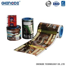 High Grade Supermarket Eco-Friendly China Manufacturer Custom Printed Chocolate Plastic Roll Film For Chocolate