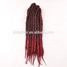 Havana Mambo Twist Crochet Braid Hair 24'' 165g/pack Synthetic Ombre Kinky Marley Twists Braiding Hair Extension