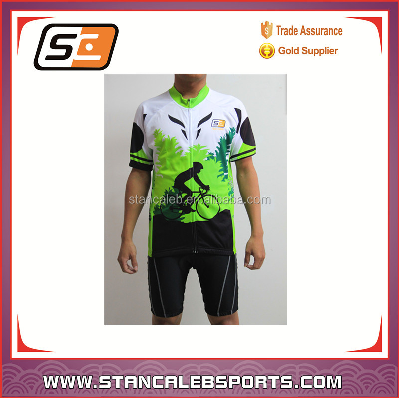 Stan Caleb wholesale short sleeve Custom cycling wear sports wear cycling cheap cycling clothing